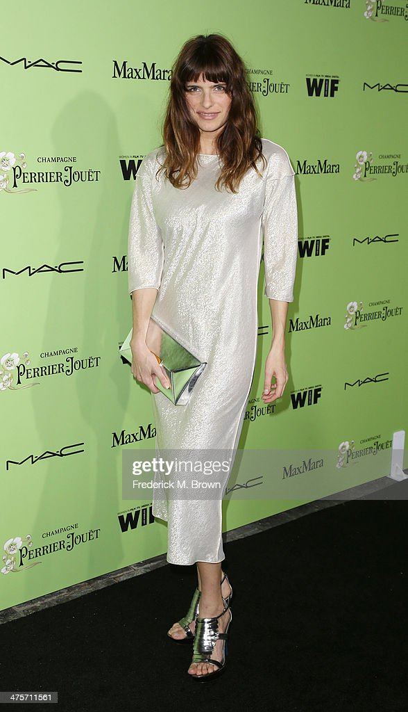 Actress <a gi-track='captionPersonalityLinkClicked' href=/galleries/search?phrase=Lake+Bell&family=editorial&specificpeople=209336 ng-click='$event.stopPropagation()'>Lake Bell</a> attends the Women in Film Pre-Oscar Cocktail Party Presented by Perrier-Jouet, MAC & MaxMara at the Fig & Olive Melrose Place on February 28, 2014 in West Hollywood, California.
