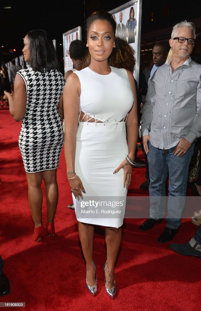 Actress LaLa Anthony attends the premiere of Fox Searchlight Pictures' 'Baggage Claim' at Regal Cinemas L.A. Live on September 25, 2013 in Los Angeles, California.