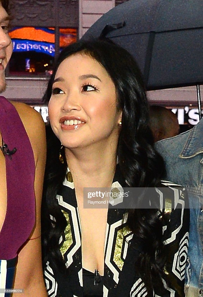 Actress <a gi-track='captionPersonalityLinkClicked' href=/galleries/search?phrase=Lana+Condor&family=editorial&specificpeople=14229196 ng-click='$event.stopPropagation()'>Lana Condor</a>is seen arriving on the set of 'Good Morning America' on May 24, 2016 in New York City.