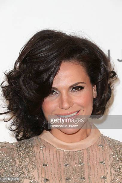 Actress Lana Parrilla arrives at the 21st Annual Elton John AIDS Foundation's Oscar Viewing Party on February 24 2013 in Los Angeles California