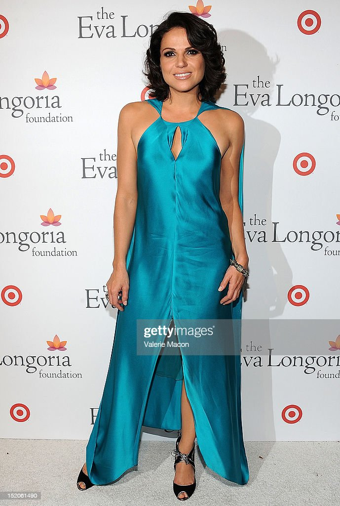 Actress <a gi-track='captionPersonalityLinkClicked' href=/galleries/search?phrase=Lana+Parrilla&family=editorial&specificpeople=2303014 ng-click='$event.stopPropagation()'>Lana Parrilla</a> arrives at The Eva Longoria Foundation's Pre-ALMA Awards Dinner Presented By Target on September 15, 2012 in Los Angeles, California.