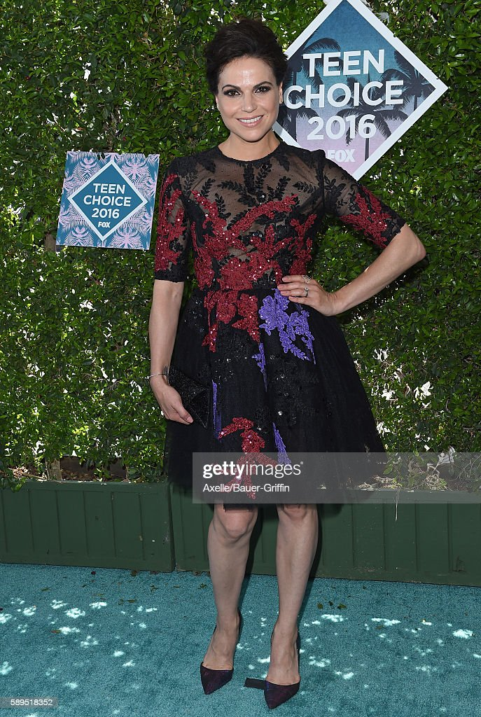 Actress Lana Parrilla arrives at the Teen Choice Awards 2016 at The Forum on July 31 2016 in Inglewood California