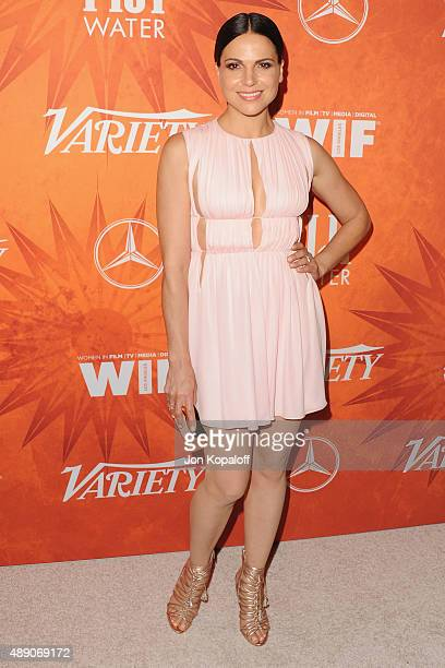 Actress Lana Parrilla arrives at the Variety And Women In Film Annual PreEmmy Celebration at Gracias Madre on September 18 2015 in West Hollywood...