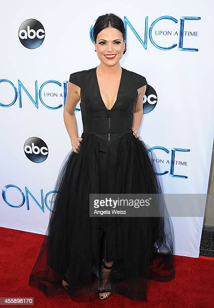 Actress Lana Parrilla attends ABC's 'Once Upon A Time' Season 4 red carpet premiere at the El Capitan Theatre on September 21 2014 in Hollywood...