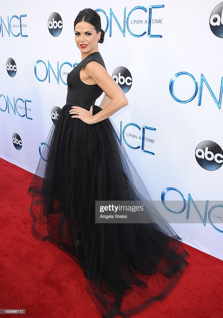 Actress Lana Parrilla attends ABC's 'Once Upon A Time' Season 4 red carpet premiere at the El Capitan Theatre on September 21, 2014 in Hollywood, California.
