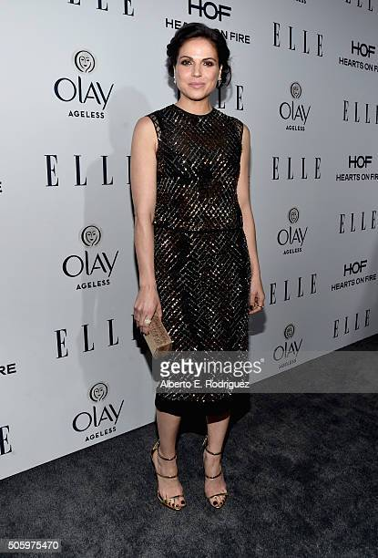 Actress Lana Parrilla attends ELLE's 6th Annual Women in Television Dinner Presented by Hearts on Fire Diamonds and Olay at Sunset Tower on January...