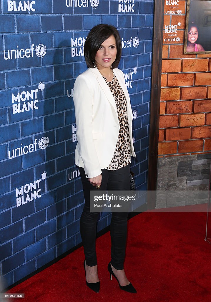 Actress <a gi-track='captionPersonalityLinkClicked' href=/galleries/search?phrase=Lana+Parrilla&family=editorial&specificpeople=2303014 ng-click='$event.stopPropagation()'>Lana Parrilla</a> attends Montblanc's 2nd annual Pre-Oscar brunch celebrating the 'Signature For Good' collection with UNICEF at Hotel Bel-Air on February 23, 2013 in Los Angeles, California.