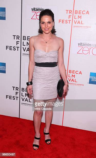Actress Lana Parrilla attends the 'Every Day' premiere during the 9th Annual Tribeca Film Festival at the Tribeca Performing Arts Center on April 24...