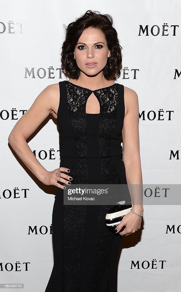 Actress <a gi-track='captionPersonalityLinkClicked' href=/galleries/search?phrase=Lana+Parrilla&family=editorial&specificpeople=2303014 ng-click='$event.stopPropagation()'>Lana Parrilla</a> attends The National Hispanic Media Coalition Impact Awards sponsored by Moet & Chandon at the Beverly Wilshire Four Seasons Hotel on February 22, 2013 in Beverly Hills, California.