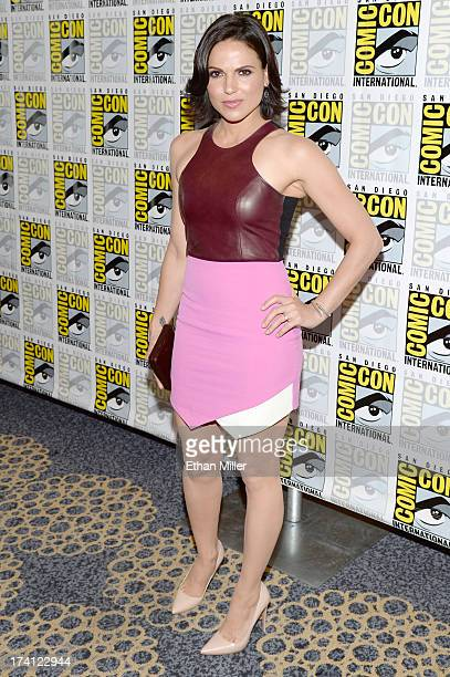 Actress Lana Parrilla attends the 'Once Upon a Time' press line during ComicCon International 2013 at the Hilton San Diego Bayfront Hotel on July 20...
