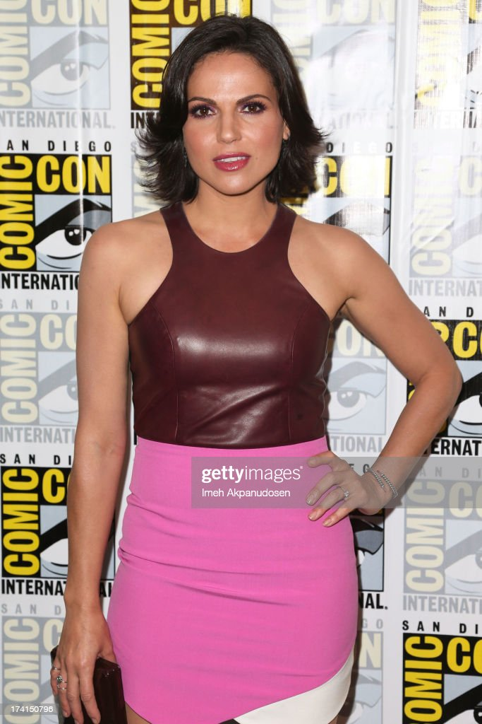 Actress <a gi-track='captionPersonalityLinkClicked' href=/galleries/search?phrase=Lana+Parrilla&family=editorial&specificpeople=2303014 ng-click='$event.stopPropagation()'>Lana Parrilla</a> attends the 'Once Upon A Time' press line during Comic-Con International 2013 at the Hilton San Diego Bayfront Hotel on July 20, 2013 in San Diego, California.
