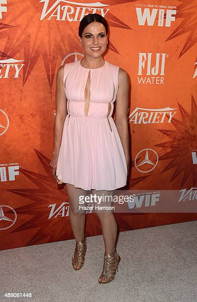 Actress Lana Parrilla attends the Variety and Women in Film Annual PreEmmy Celebration at Gracias Madre on September 18 2015 in West Hollywood...