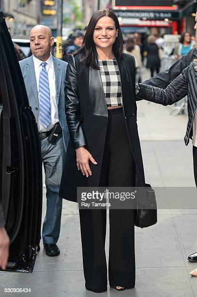Actress Lana Parrilla leaves the 'Good Morning America' taping at the ABC Times Square Studios on May 11 2016 in New York City