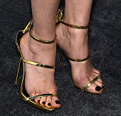 Actress Lana Parrilla shoe detail attends ELLE's 6th Annual Women in Television Dinner Presented by Hearts on Fire Diamonds and Olay at Sunset Tower...
