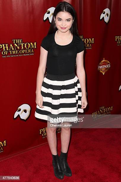 Actress Landry Bender arrives at the red carpet opening night of 'The Phantom of the Opera' at the Pantages Theatre on June 17 2015 in Hollywood...
