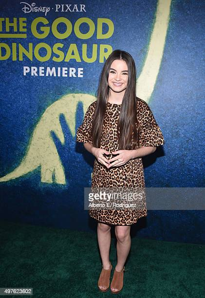 Actress Landry Bender attends the World Premiere Of DisneyPixar's THE GOOD DINOSAUR at the El Capitan Theatre on November 17 2015 in Hollywood...