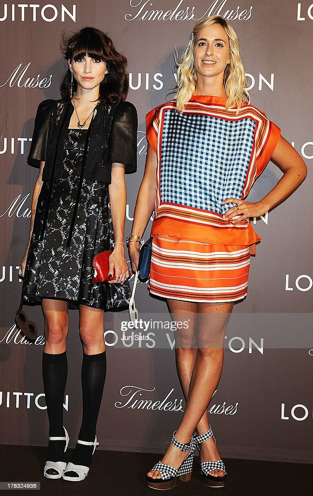Actress Langley Hemingway and Elisabeth von Thurn und Taxis attend Louis Vuitton 'Timeless Muses' exhibition at the Tokyo Station Hotel on August 29, 2013 in Tokyo, Japan.