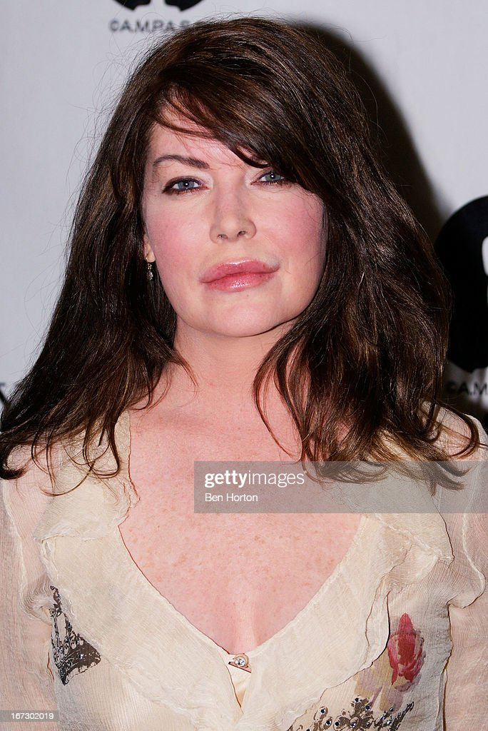 Actress <a gi-track='captionPersonalityLinkClicked' href=/galleries/search?phrase=Lara+Flynn+Boyle&family=editorial&specificpeople=202060 ng-click='$event.stopPropagation()'>Lara Flynn Boyle</a> attends the Academy Of Motion Picture Arts And Sciences Hosts A 'Wayne's World' Reunion at AMPAS Samuel Goldwyn Theater on April 23, 2013 in Beverly Hills, California.