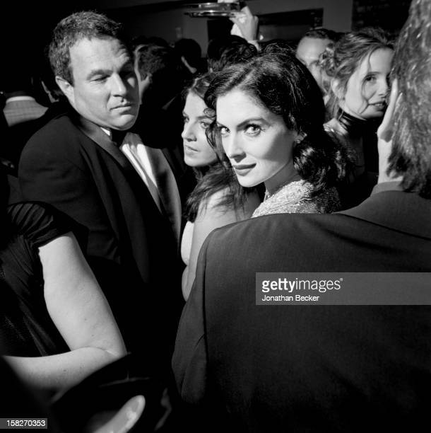 Actress Lara Flynn Boyle is photographed for Vanity Fair Magazine on March 25 2001 at Vanity Fair's Oscar party at Morton's in West Hollywood...