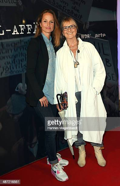 Actress Lara Joy Koerner and her mother Diana Koerner attend 'Die SpiegelAffaere' Preview at Gloria Palast on April 28 2014 in Munich Germany
