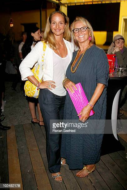 Actress Lara Joy Koerner and mother actress Diana Koerner attend the 'Tele 5 Director's Cut' during the Munich Film Festival at the Praterinsel on...