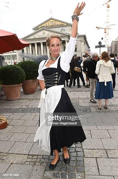Actress Lara Joy Koerner attends the 'Fruehstueck bei Tiffany' at Tiffany Store before the Oktoberfest 2014 starts on September 20 2014 in Munich...