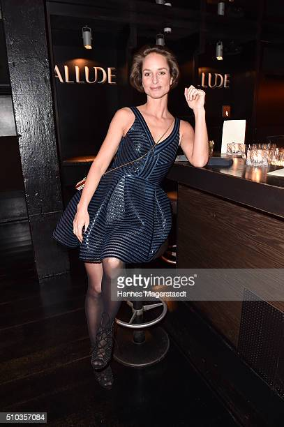 Actress Lara Joy Koerner during 'Allude Celebrates Cashmere' at Heart Club on February 14 2016 in Munich Germany