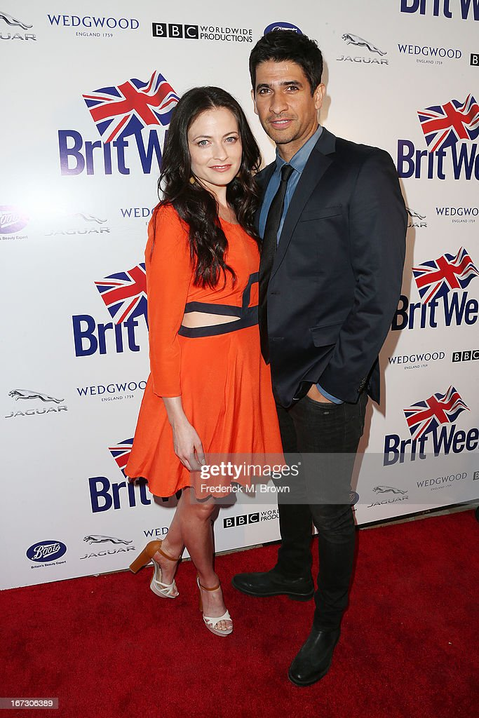 Actress Lara Pulver (L) and actor Raza Jaffrey attend the launch of the Seventh Annual Britweek Festival 'A Salute to Old Hollywood' on April 23, 2013 in Los Angeles, California.