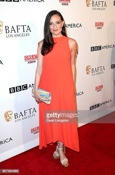 Actress Lara Pulver arrives at BAFTA Los Angeles BBC America TV Tea Party at The London Hotel on September 17 2016 in West Hollywood California