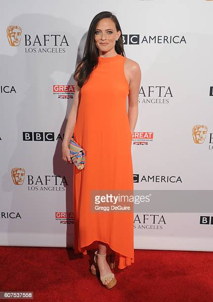 Actress Lara Pulver arrives at the BBC America BAFTA Los Angeles TV Tea Party at The London Hotel on September 17 2016 in West Hollywood California