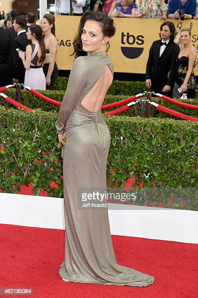 Actress Lara Pulver attends the 21st Annual Screen Actors Guild Awards at The Shrine Auditorium on January 25 2015 in Los Angeles California