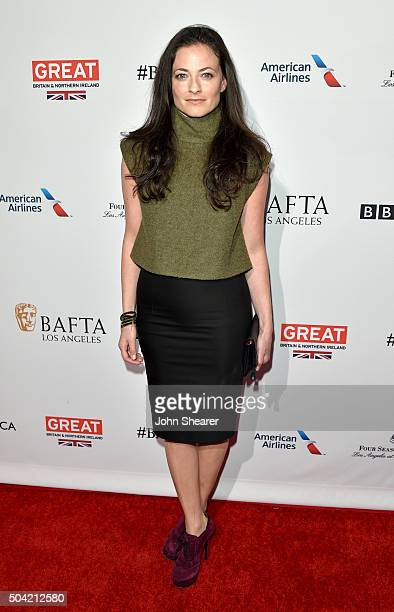 Actress Lara Pulver attends the BAFTA Awards Season Tea Party at Four Seasons Hotel Los Angeles at Beverly Hills on January 9 2016 in Los Angeles...