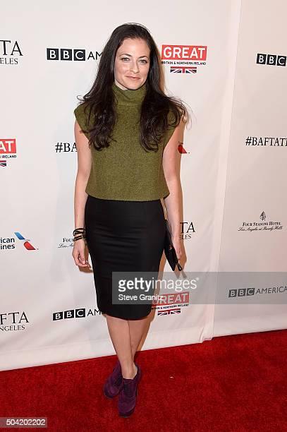 Actress Lara Pulver attends the BAFTA Los Angeles Awards Season Tea at Four Seasons Hotel Los Angeles at Beverly Hills on January 9 2016 in Los...