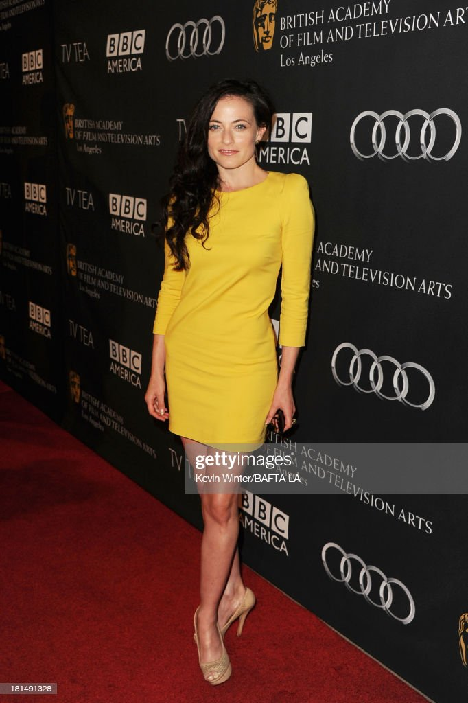 Actress <a gi-track='captionPersonalityLinkClicked' href=/galleries/search?phrase=Lara+Pulver&family=editorial&specificpeople=5505994 ng-click='$event.stopPropagation()'>Lara Pulver</a> attends the BAFTA LA TV Tea 2013 presented by BBC America and Audi held at the SLS Hotel on September 21, 2013 in Beverly Hills, California.