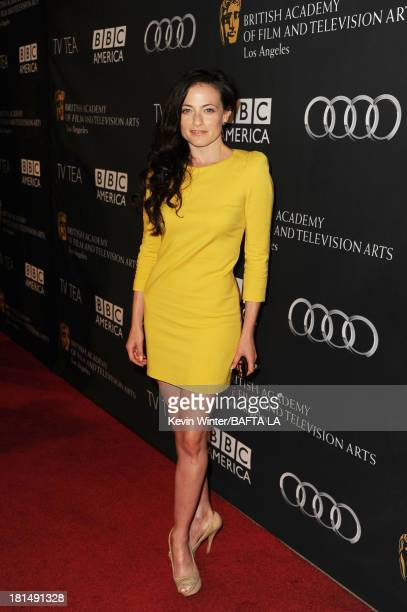 Actress Lara Pulver attends the BAFTA LA TV Tea 2013 presented by BBC America and Audi held at the SLS Hotel on September 21 2013 in Beverly Hills...