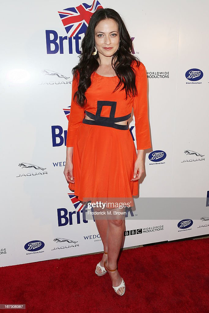 Actress Lara Pulver attends the launch of the Seventh Annual Britweek Festival 'A Salute to Old Hollywood' on April 23, 2013 in Los Angeles, California.