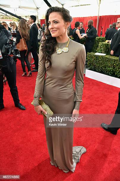 Actress Lara Pulver attends TNT's 21st Annual Screen Actors Guild Awards at The Shrine Auditorium on January 25 2015 in Los Angeles California...