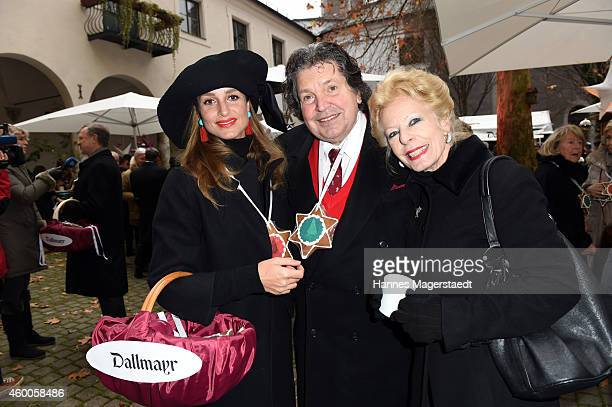 Actress LaraJoy Koerner Matthias and Tina Waske attend the 19th BMW Advent Charity Concert at St Michael church on December 6 2014 in Munich Germany
