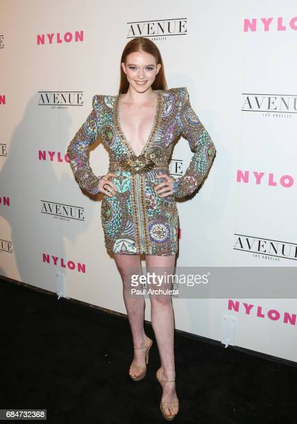 Actress Larsen Thompson attends NYLON's annual Young Hollywood May issue event with cover Star Rowan Blanchard at Avenue on May 2 2017 in Los Angeles...