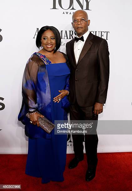 Actress LaTanya Richardson Jackson and actor Samuel L Jackson attends the 68th Annual Tony Awards at Radio City Music Hall on June 8 2014 in New York...