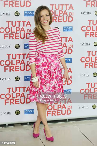 Actress Laura Adriani attends the 'Tutta colpa di Freud' photocall at Cinema Adriano on January 20 2014 in Rome Italy
