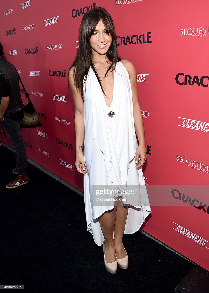 Actress Laura Aleman attends Crackle Presents: Summer Premieres Event for originals, 'Sequestered' and 'Cleaners' at 1 OAK on August 14, 2014 in West Hollywood, California.