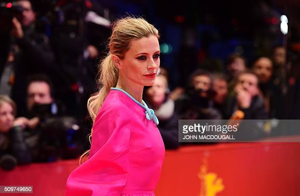 US actress Laura Bailey poses on the red carpet as she arrives for the film 'Hail Caesar' screening as opening film 'Hail Caesar' screening as...