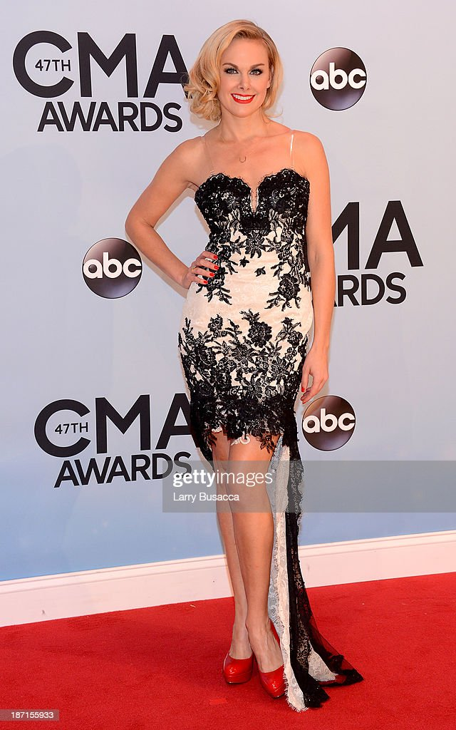Actress Laura Bell Bundy attends the 47th annual CMA Awards at the Bridgestone Arena on November 6, 2013 in Nashville, Tennessee.