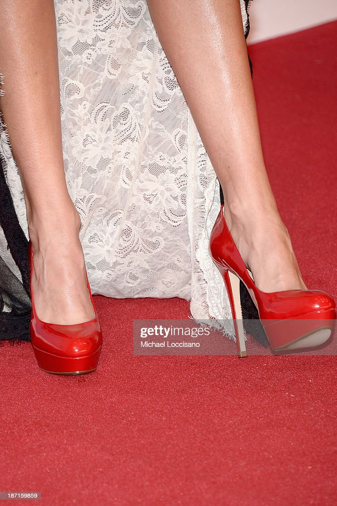 Actress Laura Bell Bundy (shoe detail) attends the 47th annual CMA Awards at the Bridgestone Arena on November 6, 2013 in Nashville, Tennessee.
