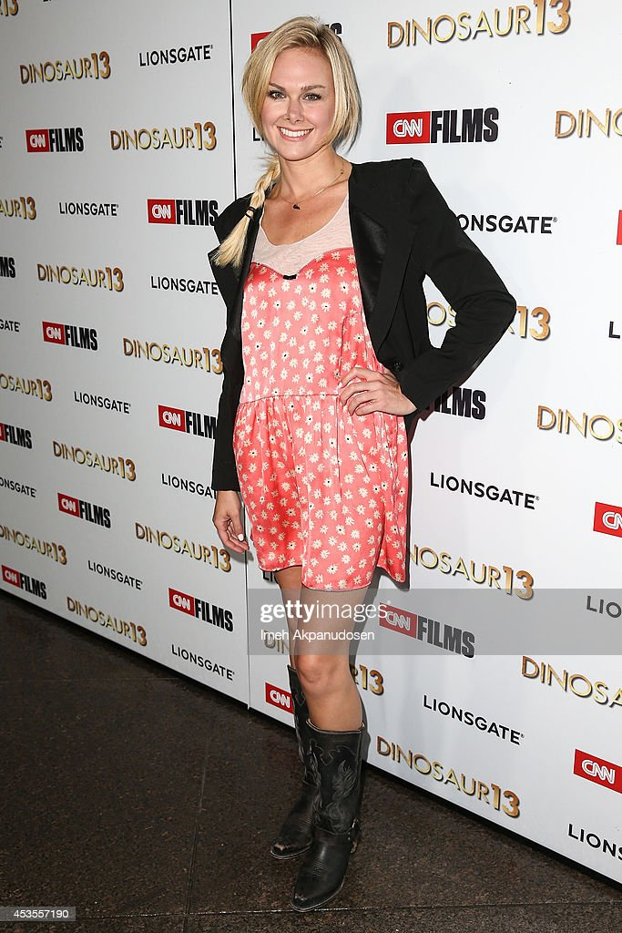 Actress Laura Bell Bundy attends the premiere of Lionsgate and CNN Films' 'Dinosaur 13' at DGA Theater on August 12, 2014 in Los Angeles, California.