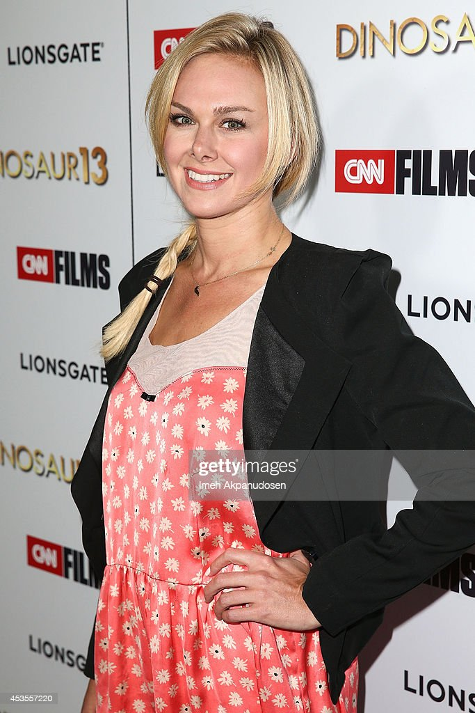 Actress <a gi-track='captionPersonalityLinkClicked' href=/galleries/search?phrase=Laura+Bell+Bundy&family=editorial&specificpeople=666348 ng-click='$event.stopPropagation()'>Laura Bell Bundy</a> attends the premiere of Lionsgate and CNN Films' 'Dinosaur 13' at DGA Theater on August 12, 2014 in Los Angeles, California.