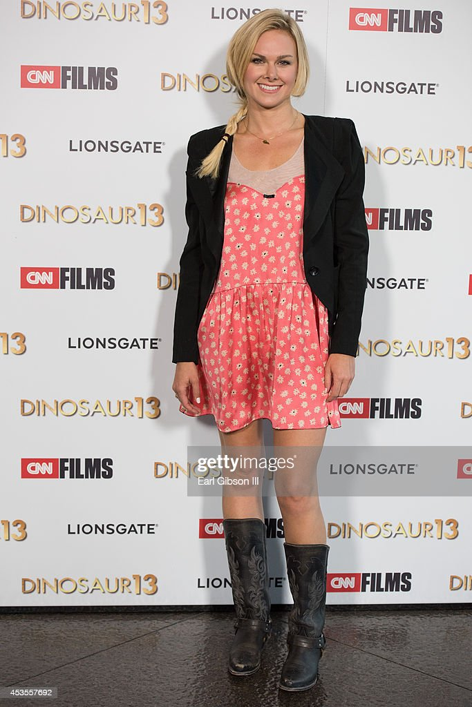 Actress Laura Bell Bundy attends the premieres of Lionsgate and CNN Film Dinosaur 13 at DGA Theater on August 12, 2014 in Los Angeles, California.
