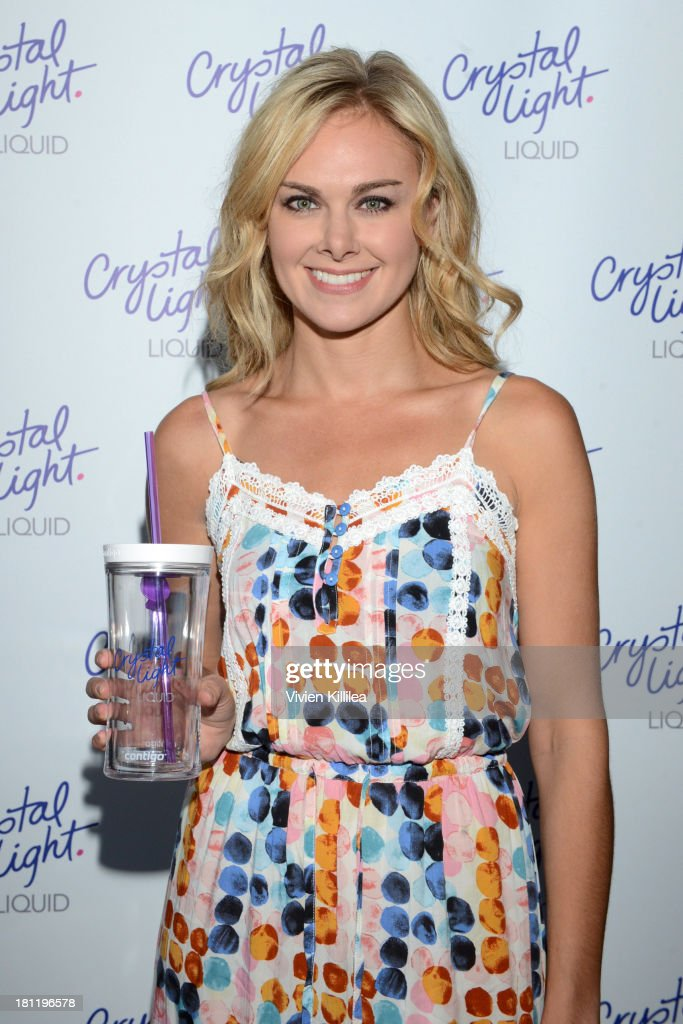 Actress Laura Bell Bundy stops by Crystal Light Liquid as they toast the Emmys at Kari Feinstein's Pre-Emmy Style Lounge at the Andaz Hotel on September 19, 2013 in Los Angeles, California.