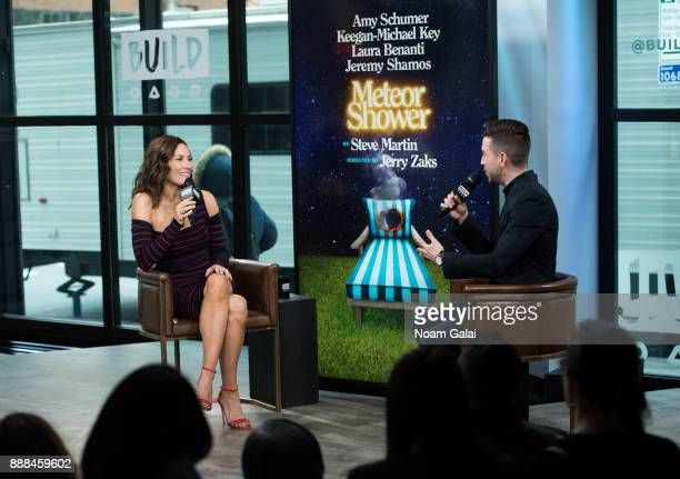 Actress Laura Benanti and Charles Thorp visit Build Series to discuss 'Meteor Shower' and 'The Detour' at Build Studio on December 8 2017 in New York...